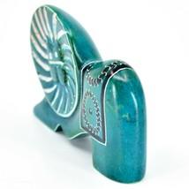 Crafts Caravan Hand Carved Soapstone Turquoise Elephant Figurine Made in Kenya image 2