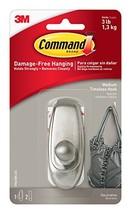 Command Timeless Hook, Medium, Brushed Nickel, 1-Hook 17061BN-ES