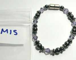 Beaded Bracelet Magnetic Hematite Clasp Single Strand   7 Inch   (MAG-015) image 7