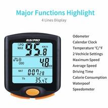 Wireless Bike Electric bikes Computer Waterproof  LCD Backlight Display ... - $26.47
