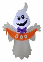 4 Foot Tall Halloween LED Inflatable Ghost with BOO Banner Yard Party De... - ₨3,310.04 INR