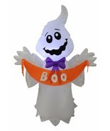 4 Foot Tall Halloween LED Inflatable Ghost with BOO Banner Yard Party De... - $45.00
