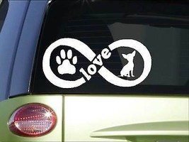 Chihuahua Infinity sticker H395 4 x 8.5 inch vinyl dog love decal - $3.99