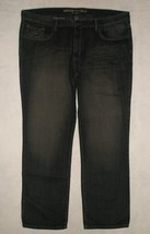 NWT Kenneth Cole Select Black Wash Straight Leg Jeans Mens Size 40 x 32 - $44.99