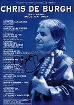 Chris De Burgh Autograph *Lady in Red* Hand Signed 8x6 Tour Flyer - $22.50