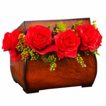 Roses Artifical Arrangement in Decorative Chest - $50.48