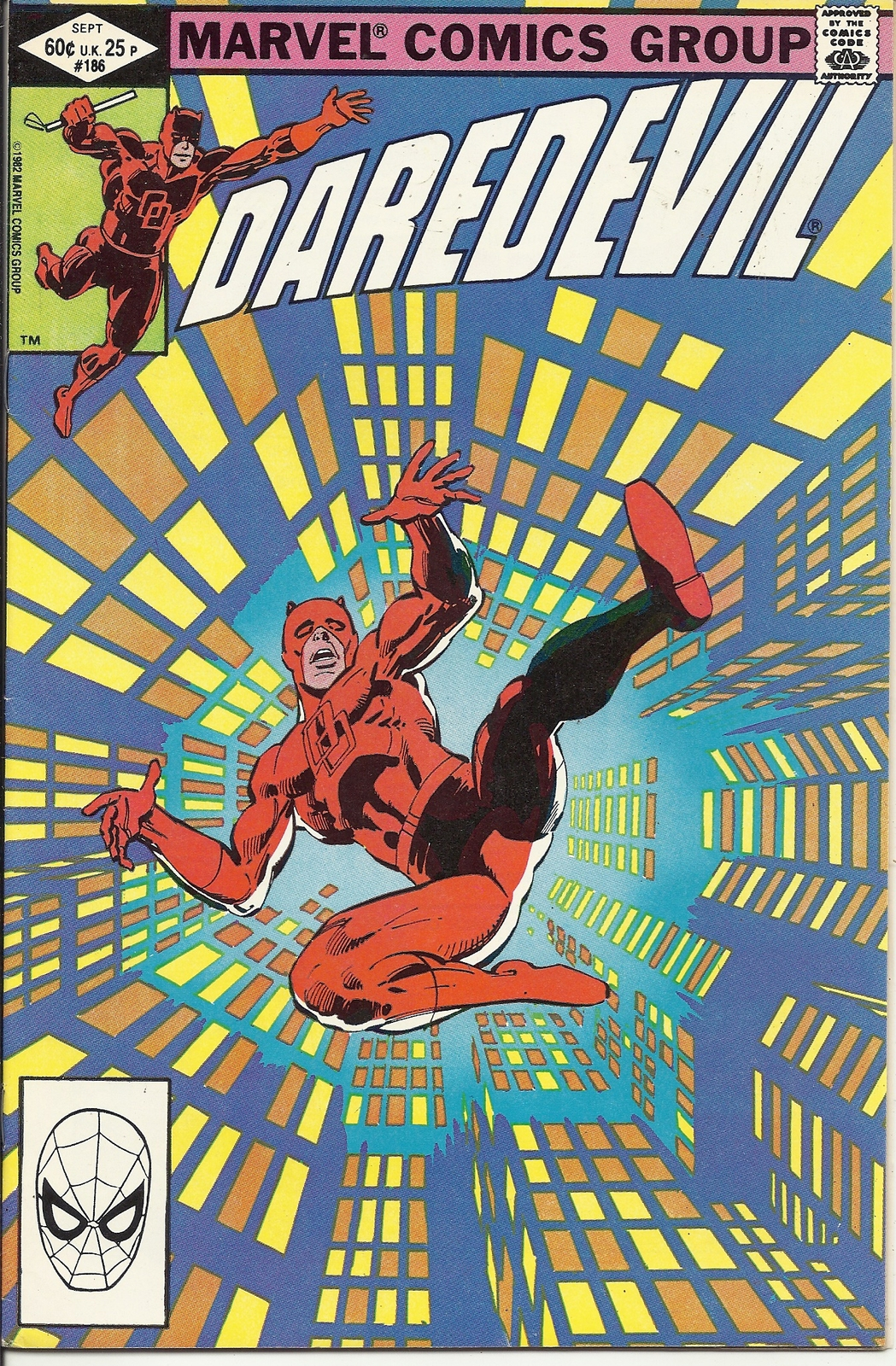 (CB-11) 1982 Marvel Comic Book: Daredevil #186
