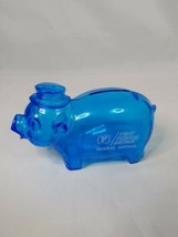 Vintage Blue Hard Plastic Piggy Bank Hat First Federal Savings Advertising  - $14.99