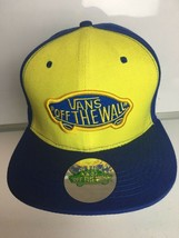 Van's Off the Wall Yellow and Blue Caps Hats Snapbacks Skateboard Kid's Dad  - $21.51