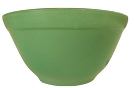 "Green Glass Mixing Bowl, Painted, 2.75"" Tall, 5.5"" Wide - $9.41"