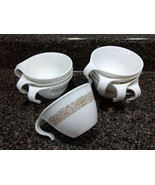 Vintage CORELLE Set of 8 Hook Handle Cups Woodland Pattern - $4.00