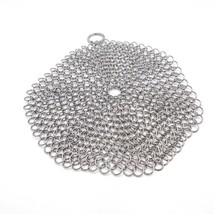 Cast Iron Scrubber Cleaner Chainmail Steel Stainless Cookware Kitchen Sk... - $19.99