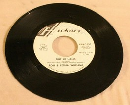 Ron & Leona Williams 45 Record Out Of hand - A Gentleman On My Mind MGM ... - $22.76