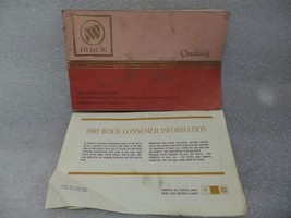 BUICK CENTURY   1982 Owners Manual with Consumer Info Sheet 14718 - $17.77