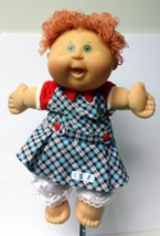 "Cabbage Patch Kid Girl Red Hair Green Eyes Freckles 2004 14"" CPK #12 - $29.99"