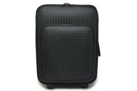 Auth BOTTEGA VENETA Intrecciato Suitcase Carry Bag 166060 Black Leather - $3,356.10
