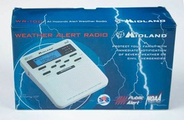 MIDLAND S.A.M.E. DIGITAL WEATHER HAZARD NOAA ALERT RADIO MONITOR WR-100 NEW - $52.46