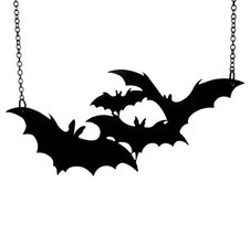 Black Bat Necklace, Halloween - $74,98 MXN