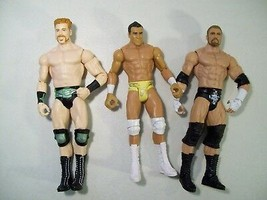 LOT OF WWE ACTION FIGURES TRIPLE H, SHEAMUS ALBERTO DEL RIO 2011 WRESTLERS - $16.61