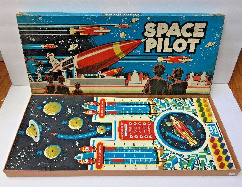 VTG Vintage 1951 Space Pilot by Cadaco Ellis Board Game HARD TO FIND HTF