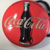 1998 COCA COLA DISC ADVERTISING COLLECTIBLE  TELEPHONE Coke Wall hanging... - $19.79