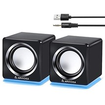 ARVICKA Computer Speaker, LED Accents USB Speaker Small Mighty Solid (bl... - $557,08 MXN