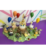 Easter Village Figure Birthday Party Woodland Creatures Balloons Cupcake... - $12.19