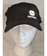 John Deere LP66986 Black Reflective Logo Cotton And Spandex Cap - $19.95