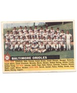1956 Topps #100c Orioles Team Orioles (White Back), No Date, Name Left EX Excell - $20.00
