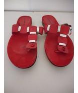 Bandolino Red Flip Flop Sandal 7.5 M - $24.74