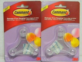 2x Command Party Balloon Bunchers, 3-Bunchers, 4-Strips 3M Hook and Eye - $5.89