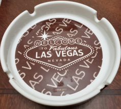 """Welcome to Fabulous Las Vegas  5"""" x 1""""  Ceramic Ashtray - $7.95"""