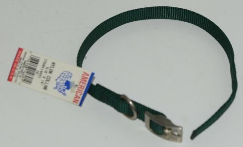 American Leather Specialties 14691 Dog Collar Green Small Nylon Pkg 1