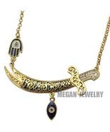 Im turkish evil eye imam ali sword hamsa hand of fatima necklace islam jewelry fashion thumbtall