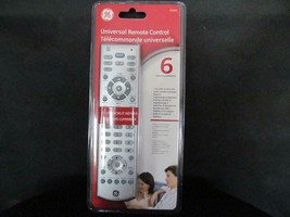 GE 20309 Universal Remote Control 6 in 1 Silver Backlit Keypad New - $9.50