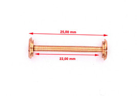 BVLG. Diagono 22x25mm Replacement Screw Bar Rose Color One Piece BVL801 - $19.70