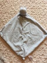 Angel Dear Boys Blue Hippo Fleece Lovey Security Blanket Toy - $8.56