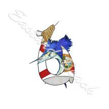 Florida Flag Hook and Sailfish Vinyl Decal - Car Truck RV Boat - $5.99+
