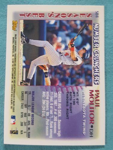 1997 Topps Season's Best #SB4 Paul Molitor Minnesota Twins Baseball Card