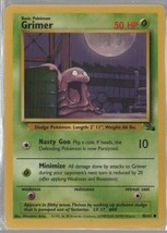 Two Grimer - Pokemon Colllectible Card Game - Grass  - 1999 - 48/62 - Wi... - $1.33