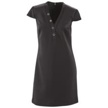 Marc NY by Andrew Marc Women's Grommet A-Line Dress Black 6 #NJIJU-M268 - $29.99