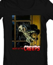 Night of the Creeps T Shirt retro 1980s zombie horror sci fi movie graphic tee image 2