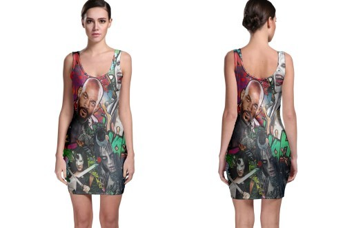 New suicide squad movie poster bodycon dress