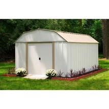 Storage Shed Steel 10 x 14 Sliding Lockable Latch Door Outdoor Lawn Gard... - $693.29