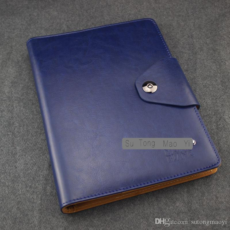 Advanced germany leather blue notebook business