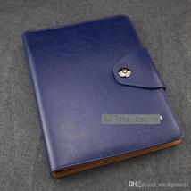 Advanced Germany Leather Blue Notebook Business Office Supply Agenda Han... - $79.99+