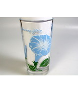 Mid Century modern Drink glass Boscul Peanut Butter Morning Glory Flower - $59.65