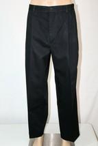 TOMMY HILFIGER Golf Men's 38 x 32(30) Black Khaki Pleated Front Pants Chinos EUC - $29.02