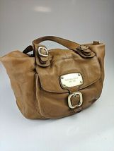 Michael Kors Vintage  Brown Leather Large Tote Handbag Good Condition. - $89.00