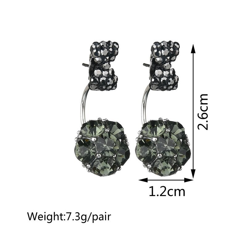 BAHYHAQ - Rhinestone Bowknot Stud Earrings Crystal Earring